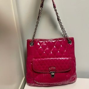 Coach Patent Quilted Shoulder Bag